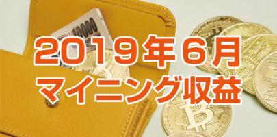 【2019年6月】 マイニング収益レポート